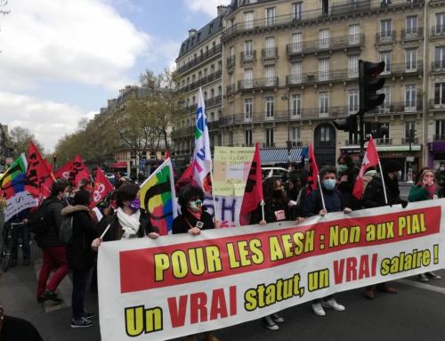 AESH en grève